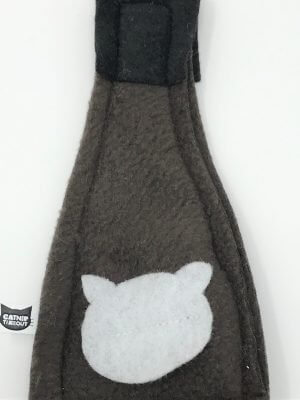 This is a catnip toy in the shape of a beer bottle