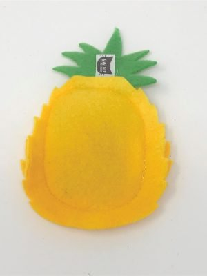 This is a catnip toy in the shape of a Pineapple